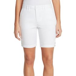 Gloria Vanderbilt Womens Violet Solid Shorts