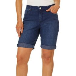 Gloria Vanderbilt Womens Short Roll Cuff Denim Shorts