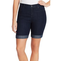 Gloria Vanderbilt Womens City Roll Cuff Denim Shorts