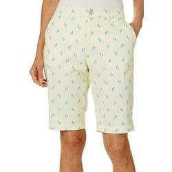 Gloria Vanderbilt Womens Flip Flops Nimah Bermuda Shorts