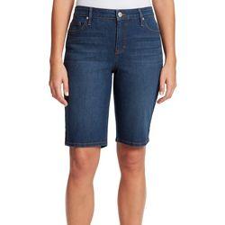 Gloria Vanderbilt Womens Midrise Bermuda Shorts