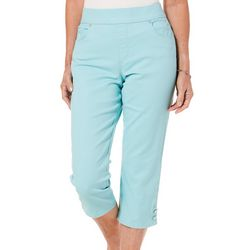 Gloria Vanderbilt Womens Avery Super Stretch Solid Capris