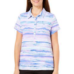 Gloria Vanderbilt Womens Annie Glory Stripe Polo Shirt
