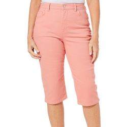 Gloria Vanderbilt Womens Amanda Solid Bermuda Shorts