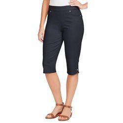 Gloria Vanderbilt Womens Avery Pull On Skimmer Shorts