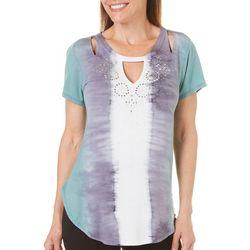 Gloria Vanderbilt Womens Clarissa Tie-Dye Top
