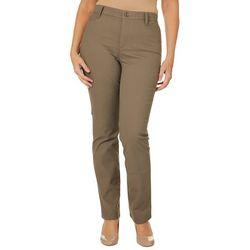 Gloria Vanderbilt Womens Amanda Button Hem Trouser Shorts