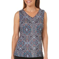 Gloria Vanderbilt Womens Kiera Embellished Medallion Top