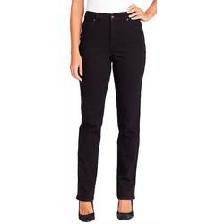 Gloria Vanderbilt Womens Amanda Sequin Tuxedo Stripe Jeans
