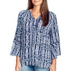 Gloria Vanderbilt Womens Nova Batik Inspired Top