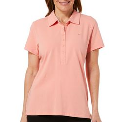 Gloria Vanderbilt Womens Annie Short Sleeve Polo Shirt