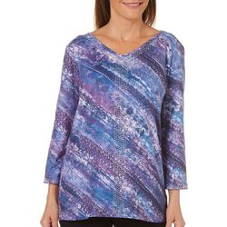 Gloria Vanderbilt Womens Teegan Printed Top