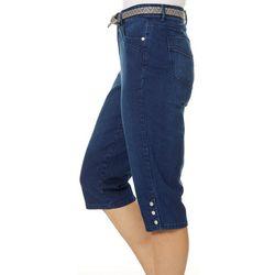 Gloria Vanderbilt Womens Sasha Belted Skimmer Shorts