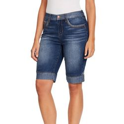 Gloria Vanderbilt Womens Jessa Denim Bermuda Shorts