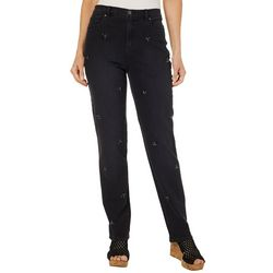 Gloria Vanderbilt Womens Amanda Jeweled Stretch Jeans