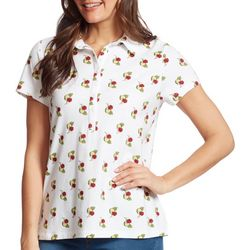 Gloria Vanderbilt Womens Annie Coconut Drinks Polo Shirt