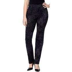 Gloria Vanderbilt Womens Amanda Damask Print Denim Jeans