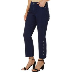Gloria Vanderbilt Womens Rail Straight Cropped Jeans