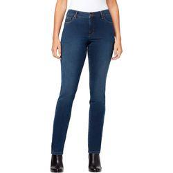 Gloria Vanderbilt Womens Sadie Solid Slim Leg Jeans