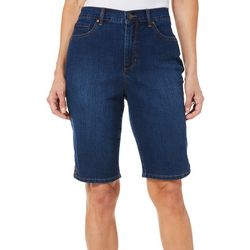 Gloria Vanderbilt Womens Amanda Denim Bermuda Shorts