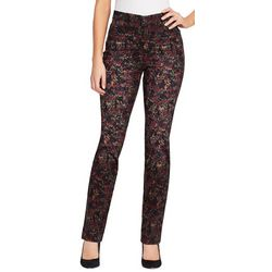 Gloria Vanderbilt Womens Amanda Paint Print Jeans