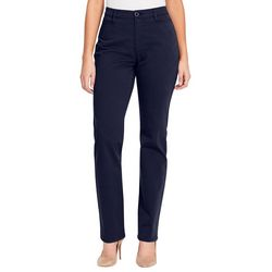 Gloria Vanderbilt Womens Amanda Straight Leg Trouser Pants
