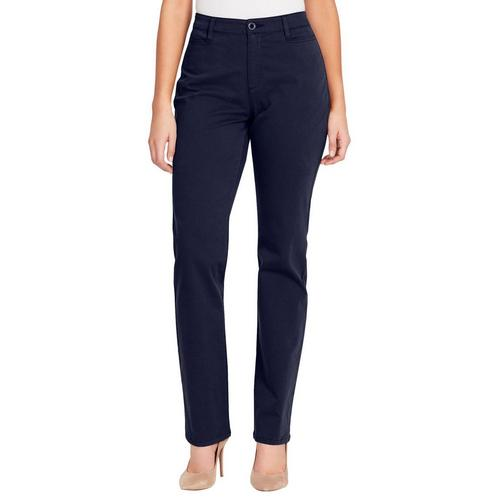 0be972bc9cf Gloria Vanderbilt Womens Amanda Straight Leg Trouser Pants