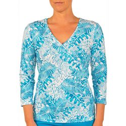 Hearts of Palm Womens Stars and Stipes Palm Leaf Top