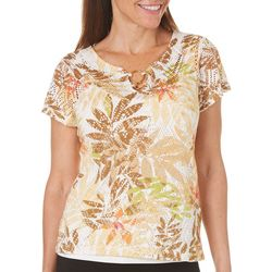 Hearts of Palm Womens Tribal Matters Ring Neck Top