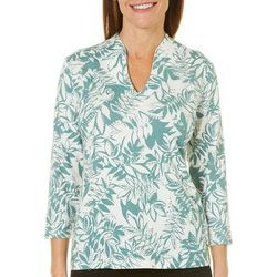 Hearts of Palm Womens Must Haves III Embellished Leaf Top