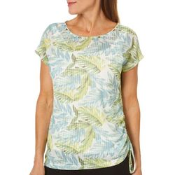 Hearts of Palm Womens Island Treasures Ruched Leaf Top