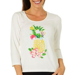 Hearts of Palm Womens Must Haves Holiday Pineapple Top