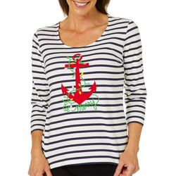 Hearts of Palm Womens Must Haves Nautical Holiday Top