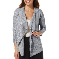 Hearts of Palm Womens Steeling The Scene Sequin Cardigan