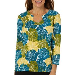 Hearts of Palm Womens Printed Essentials Island Palm Top