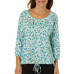 Hearts of Palm Womens Off Tropic Leopard Pull Over Top