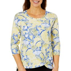 Hearts of Palm Womens Seas The Day Umbrella French Terry Top