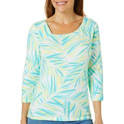 Hearts of Palm Womens Palm Perfect Palm Leaf Top