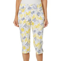Hearts of Palm Womens Sunny Side Up Leaf Print Capris