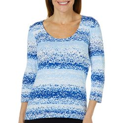 Hearts of Palm Womens Always Blooming Ombre Dot Top