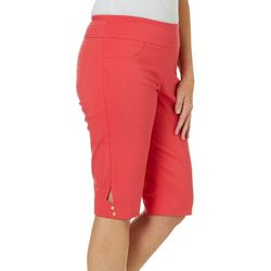 Hearts of Palm Womens Catch My Drift Solid Skimmer Shorts