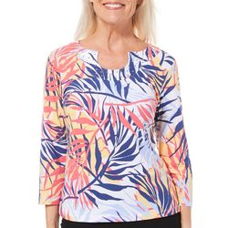 Hearts of Palm Womens Catch My Drift Tropical Palm Top