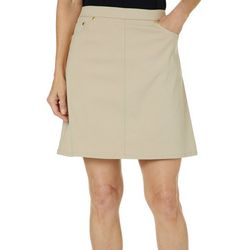 Hearts of Palm Womens Essentials Solid Tech Stretch Skort