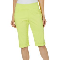 Hearts of Palm Womens Drop Me A Lime Pull On Skimmer Shorts