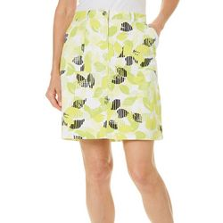 Hearts of Palm Womens Drop Me A Lime Citrus Print Skort