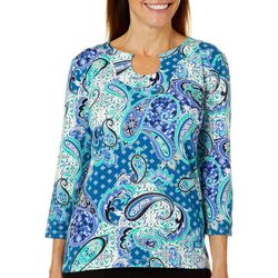 Hearts of Palm Womens Must Haves III Floral Paisley Top
