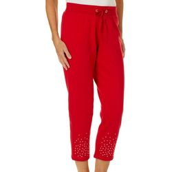 Hearts of Palm Womens Wrapped In Rubies Pull On Pants