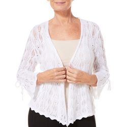 Hearts of Palm Womens Sun In Sight Crochet Cardigan