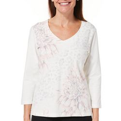 Hearts of Palm Womens Blush Hour Dahlia & Animal Print Top