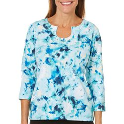 Hearts of Palm Womens Must Haves III Watercolor Print Top